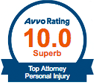 Avvo Rating 10.0 Top Attorney Personal Injury